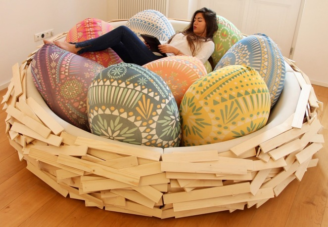 Giant Bird Nest Couch Thing